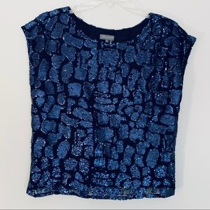 Vince Camuto sequence navy top